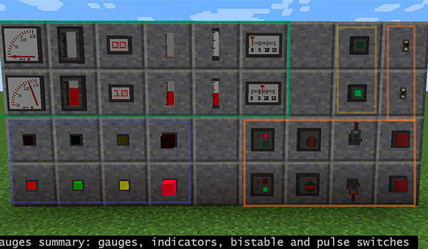 Redstone Gauges and Switches
