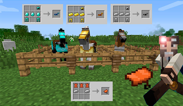 Craftable Horse Armour & Saddle
